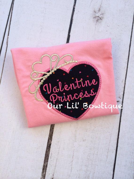 Valentine Princess Shirt - Personalized Valentine Shirt - Valentine Shirt - Girls Valentine