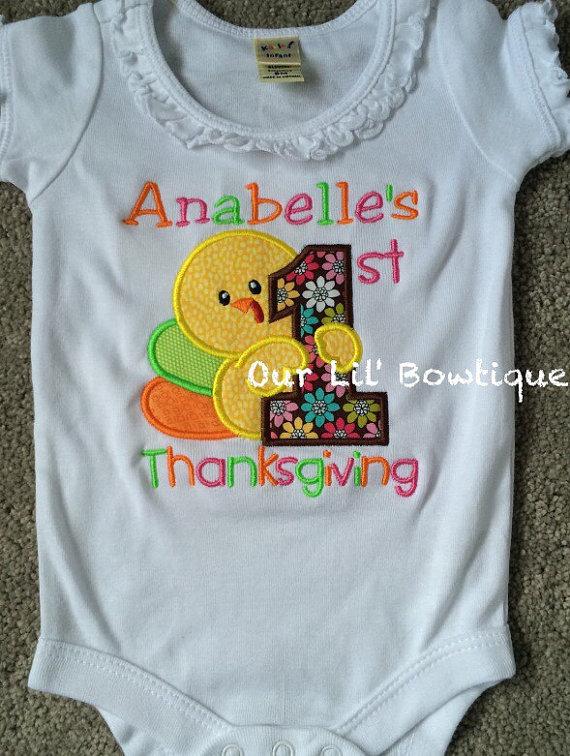 My 1st Thanksgiving Shirt - First Thanksgiving - Babies 1st Thanksgiving Shirt - Thanksgiving Shirt