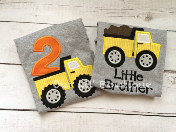 Dumptruck Birthday Shirt - Dump Truck Shirt - Construction Birthday - Personalized Birthday Shirt - Boy