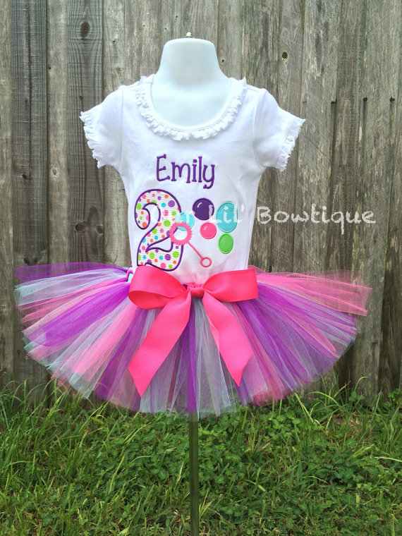 Girls Bubble Birthday Shirt
