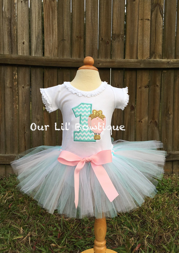Hot Air Balloon Shirt - Up Up and Away - Hot Air Balloon Birthday Shirt - Birthday Shirt - First Birthday- Tutu-Birthday Outfit - Time Flies