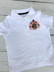 Monogrammed Turkey Polo