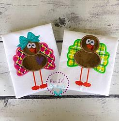 Standing Tall Turkey Applique Shirt