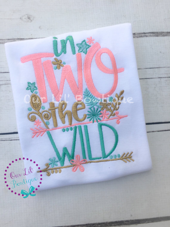 In Two The Wild - In Two The Wild Birthday Shirt- Personalized Birthday - Personalized - Birthday Shirt - 2nd Birthday Shirt - TWO