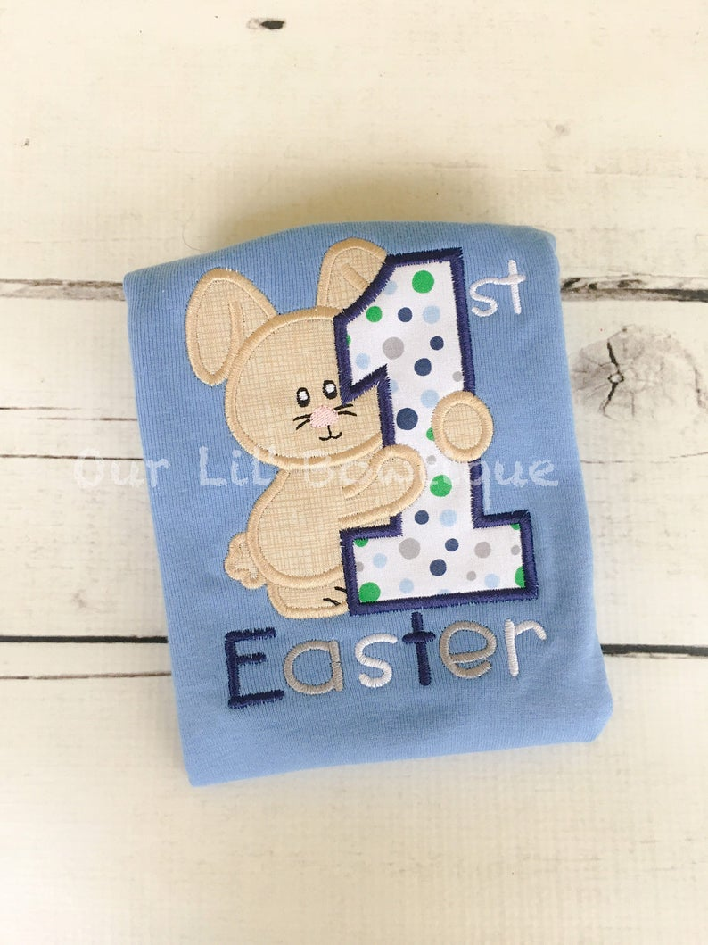My 1st Easter Shirt - Boys Personalized Easter Shirt