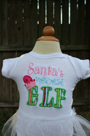 Santa's Newest Elf Shirt - New Baby Shirt - Christmas