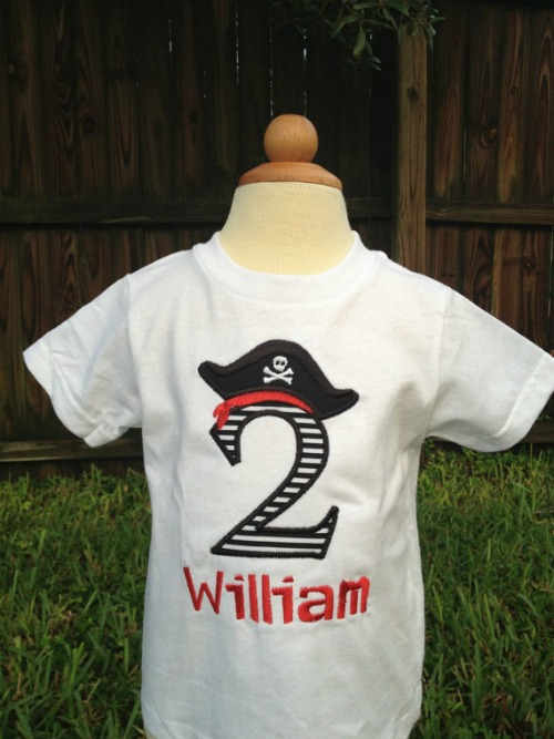 Personalized Pirate Birthday Shirt