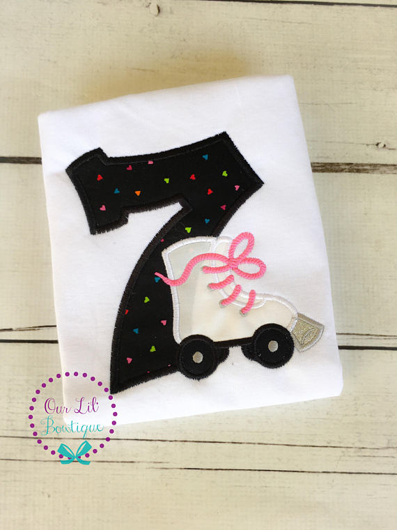 Roller Skate Birthday Shirt - Girls Birthday Shirt - Roller Skate Shirt