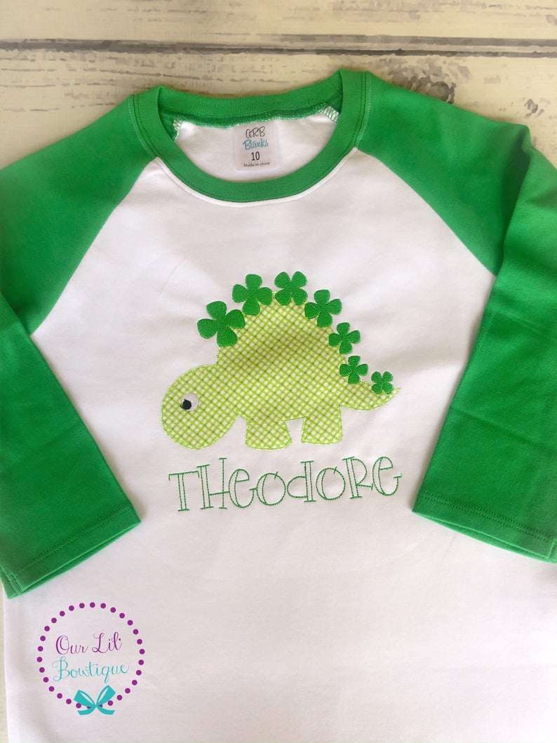 St Patricks Day Dinosaur Shirt