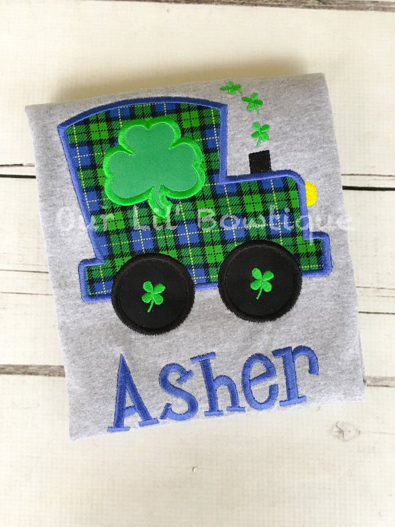 St Patricks Day Train Shirt - Personalized Shamrock Shirt
