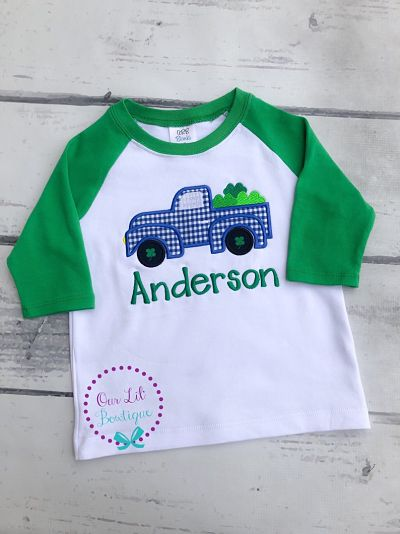 Personalized Shamrock Truck Shirt