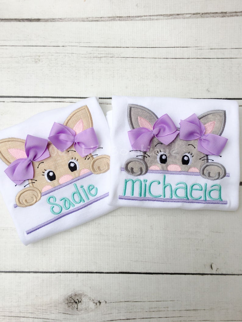 Split Bunny Personalized Easter Shirt