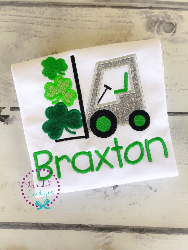 St Patricks Day Truck Shirt - Shamrock Forklift Shirt